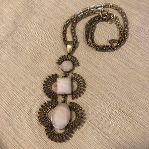 J.Crew triple drop pendant necklace